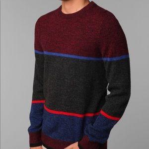 NWOT - O'Hanlon Mills Striped Crew-Neck Sweater